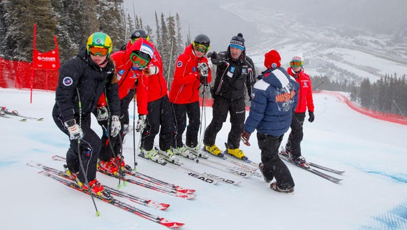 Olympics Winter AP US Ski Team Training Skiing sochi 2014
