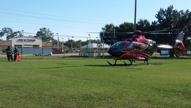 The victim was flown by medical helicopter toOrlando Regional Medical Center.