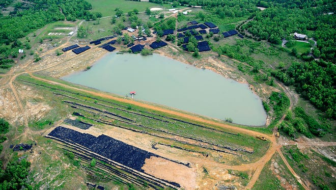 An aerial view of the DAMCO tire dump in 2013.