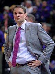 LSU coach Will Wade watches during a game against Alabama.