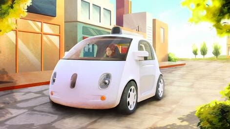 The new Google prototype driverless car.