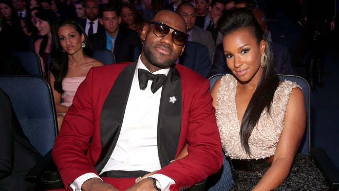 LeBron James and Savannah Brinson attend The 2013 ESPY Awards at Nokia Theatre L.A. Live on July 17, 2013 in Los Angeles, California.