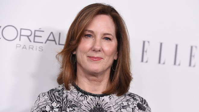 Kathleen Kennedy spoke at the 'Elle' Women in Hollywood awards, sponsored by L'Oreal and Calvin Klein.