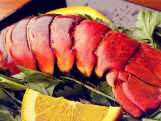 Lobster tails will be among the Valentine's dinner
