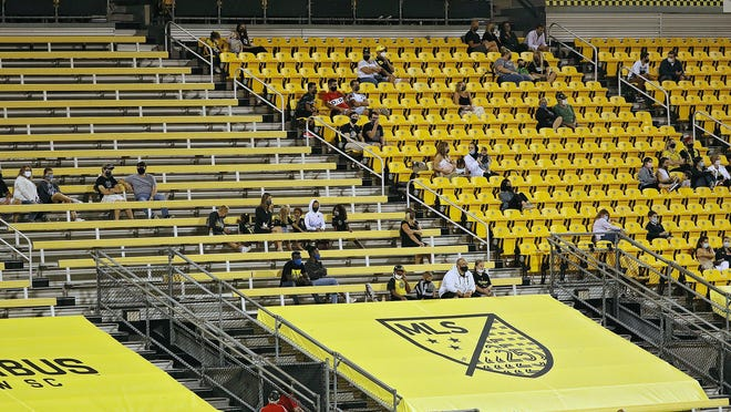 Family and guests of Crew players and staff were able to watch Wednesday's match against the Union at Mapfre Stadium.