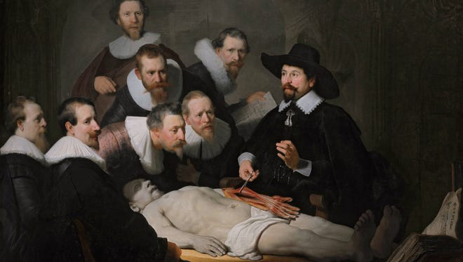 """This Rembrandt painting depicts """"The anatomy lesson of Dr. Nicolaes Tulp."""" North Carolina residents have multiple sources for donating their bodies to science."""