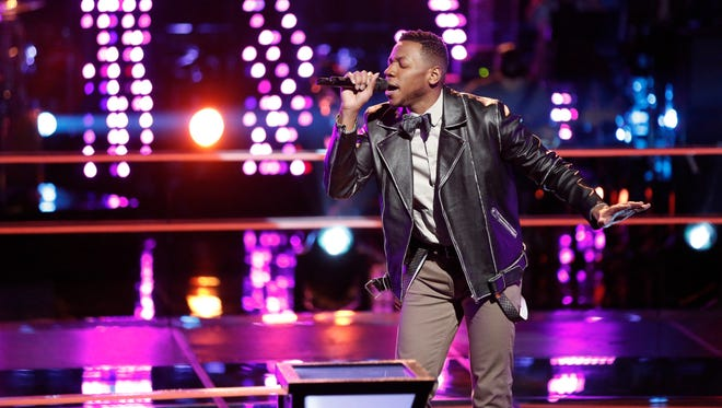 "Knoxville's Chris Blue performs in ""The Voice"" Knockout Rounds."