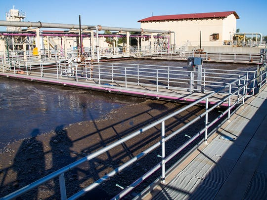 This is an aeration basin at the Ocotillo Water Reclamation Facility in Chandler.