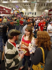A very large crowd was on hand for the Chili Cookoff
