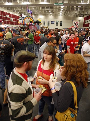 A very large crowd was on hand for the Chili Cookoff at the Expo Center in downtown Springfield.