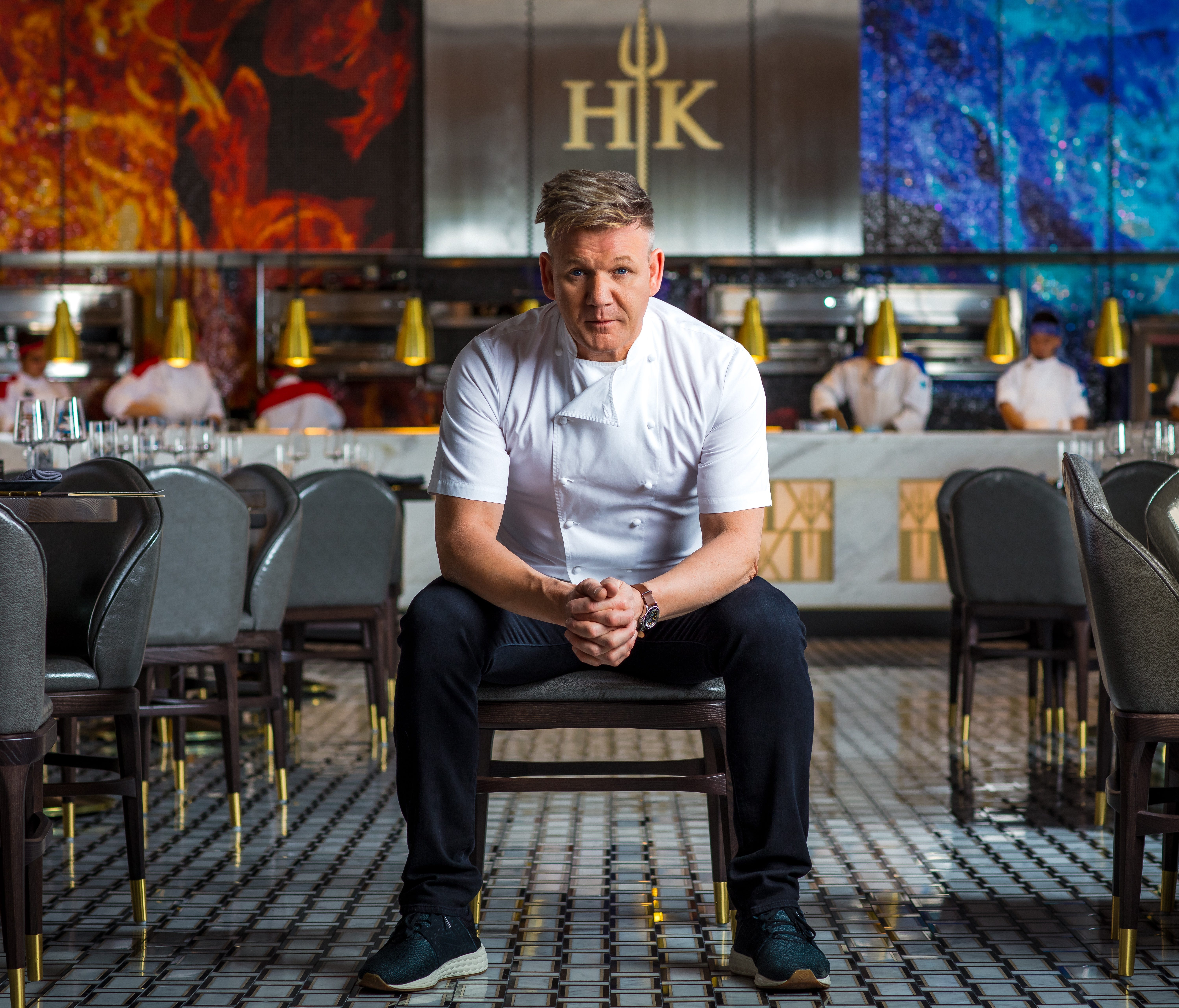 Gordon Ramsay's first Hell's Kitchen restaurant opened at Caesars Palace in Las Vegas on January 16.