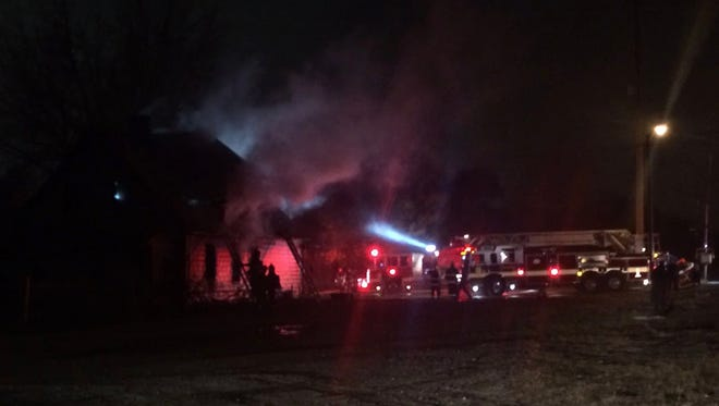 Three firefighters were injured in this fire in the 200 block of South Warman Avenue on Friday, Nov. 17, 2017.