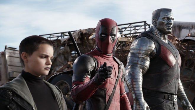 "Ryan Reynolds, center, stars in the movie ""Deadpool,"" opening in El Paso theaters this week."