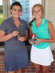 The top two finishers in the Girls 18-and-under division