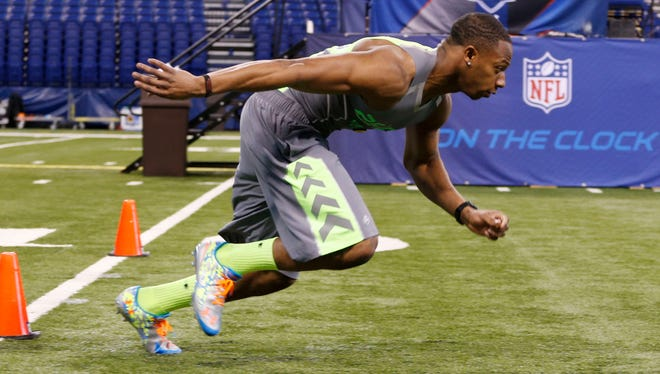 CB Justin Gilbert was the fastest player at Tuesday's NFL scouting combine workouts.