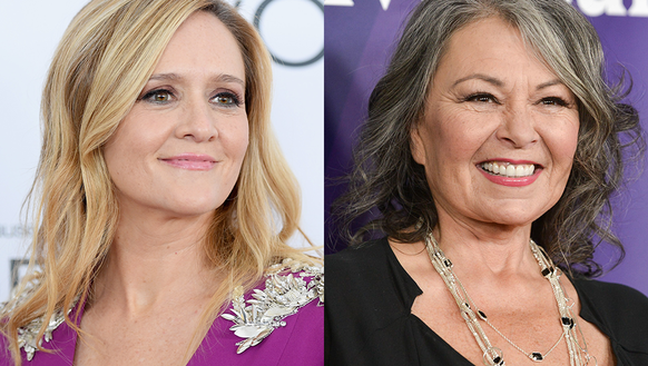 People on social media are comparing Samantha Bee (left)