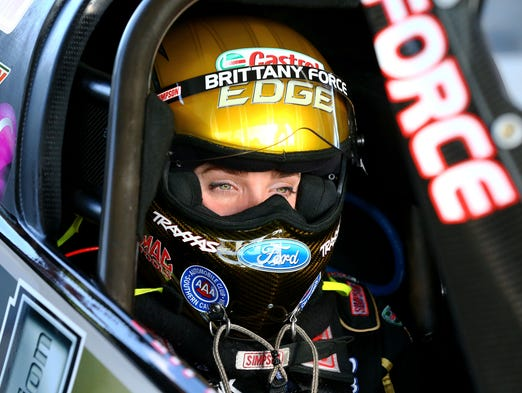 Top fuel dragster Brittany Force carries on the family racing tradition on the NHRA Mello Yello Drag Racing Series.