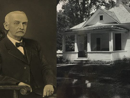 Ansel Watrous, a newspaper publisher and author, lived