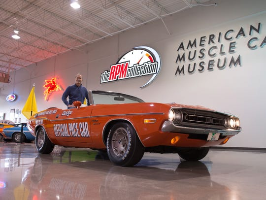 Steve Cage with the infamous pace car from the 1971