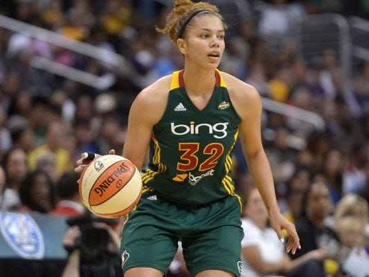 Former Belmont and MTSU star Alysha Clark re-signed with the Seattle Storm of the WNBA this past week.