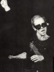 Elton John performs at Stokely Athletic Center in 1973.