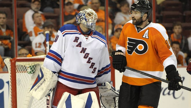 The Flyers and Rangers have been whistled for penalties, but physicality has been down.