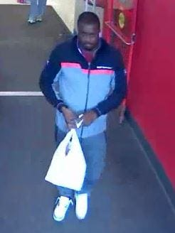 Police say they are seeking this man in connection with credit card fraud at a township Target and a Brick Wal-mart.