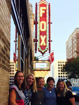 The Fox Theatre in Atlanta, from left to right: Janna Laughridge, Angelia Healy, Emilee Ennis, Elizabeth Gibbs, and me.