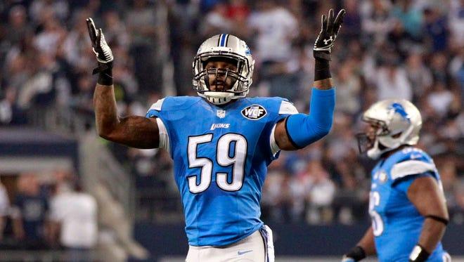 Lions linebacker Tahir Whitehead.