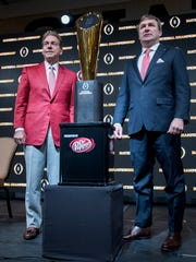 Alabama head coach Nick Saban and Georgia head coach