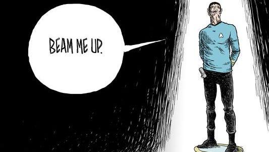 Beam Me Up. #RIPLeonardNimoy