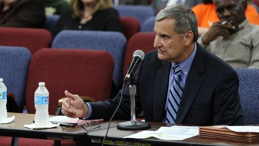 Lafayette Parish Superintendent Donald Aguillard speaks to the school board in 2015. Aguillard told board members this week that the Exiting Pathways program should see reduced enrollment.