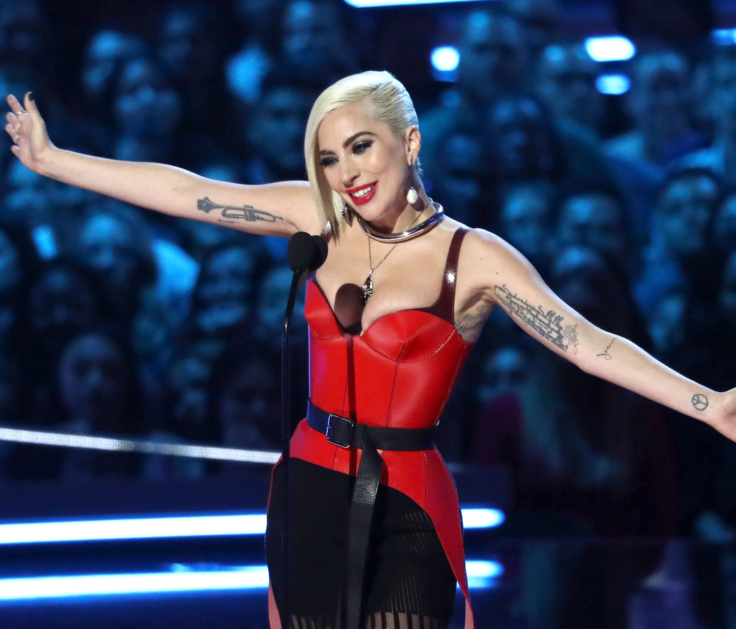Whoops! Lady Gaga let an F-bomb fly while handing out the biggest award of the night.