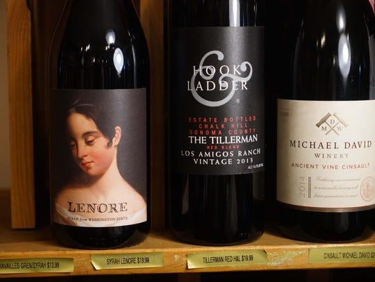 Unique bottles of wine for sale at Collier's Centreville