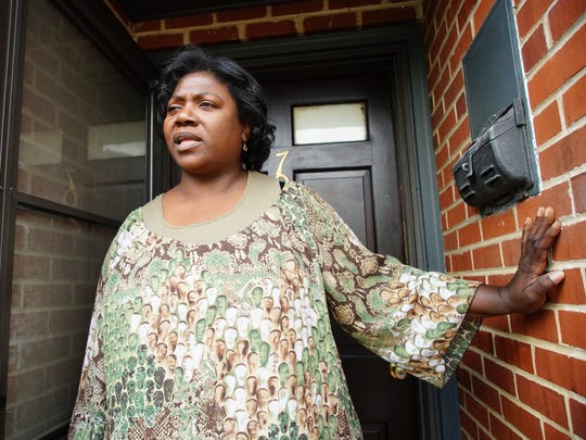 Carmen Hall recalls hearing gunfire outside her home on the 700 block of E. Sixth St. where a 6-year-old boy was shot Tuesday afternoon.