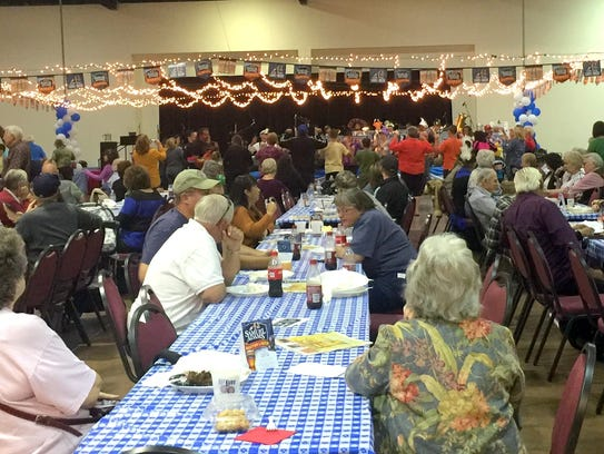 Visitors enjoyed a variety of food at the Ruidoso Oktoberfest.