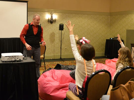 Magician Eddy Ray performs at the Hershey Lodge on December 30, 2016.