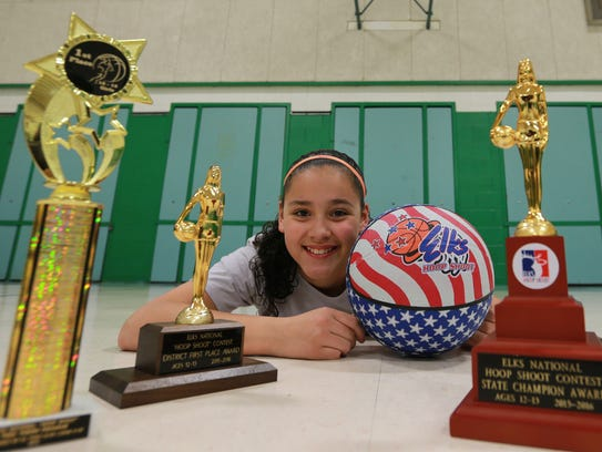 Tori Perez, a sixth-grader at East Point Elementary