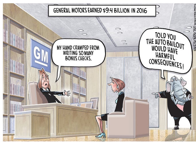 Mike thompson 39 s auto industry cartoon gallery General motors earnings