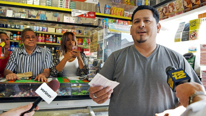 Juan Mendez-Galarza of Paterson bought a $1 million winning Powerball ticket at W & R Mini Market & Deli on Nagle Street in Paterson. Galarza showed up at the store on Thursday to check his three tickets and found that he was a winner.