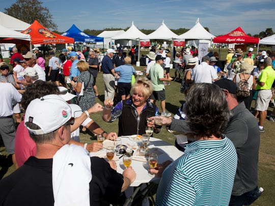 "Spectators enjoy themselves to food and beverages inside of the ""Taste of Southwest Florida"" dining area during the first round of the Chubb Classic at TwinEagles Club in 2017. The event has added a third day for 2020 in the Chubb Classic's second year at The Classics at Lely Resort."