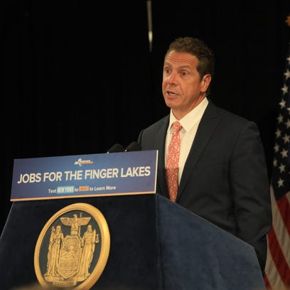 Gov. Andrew Cuomo visited Henrietta Tuesday to announce