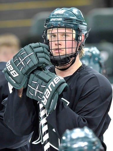 Michigan State University hockey player  Villiam Haag,
