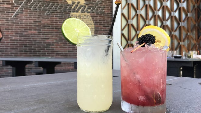 The Verbena and the Brix Bramble are two of the new craft cocktails on the menu at Playalinda Brewing Co.'s The Brix Project in Titusville.