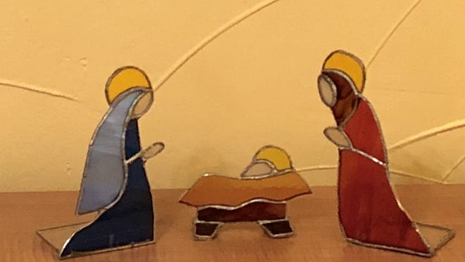 A Christmas nativity scene.