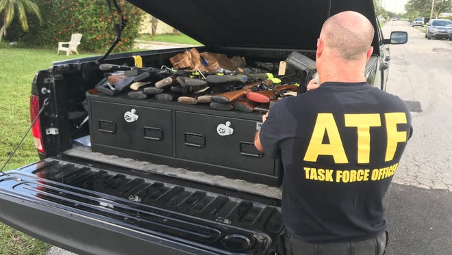 ATF officials removed guns from a Stuart home Dec. 8, 2017.