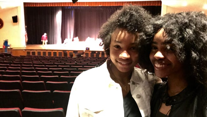 """Mount Vernon's high schools present """"The Color Purple"""" at Mount Vernon High School. Calilah Hines, left, plays Nettie, and Anjanee Thomas plays Celie. Performances at 6 p.m., May 4, 5; 3 p.m., May 6; $10; brownpapertickets.com or door"""