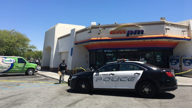 A stabbing occurred Thursday afternoon at the AM/PM gas station at the corner of Vista Chino and Sunrise in Palm Springs.
