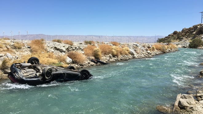 Alexis Sanchez, 21, of Palm Springs waswas killed Thursday when a car plunged into the Whitewater River off Highway 111 north ofPalm Springs.