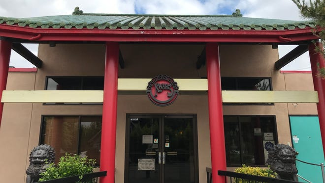 The pagoda-style entrance to Kwan's Original Cuisine on Thursday, June 21, 2018.